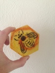 Glass bee tile